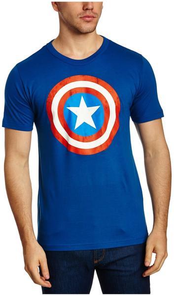 LOGOSHIRT T-Shirt Captain America blau, Größe XXL