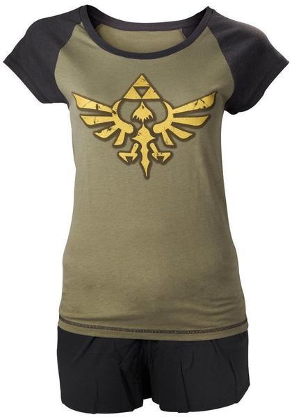 Bioworld Nintendo Shortama -L- Zelda, schwarz
