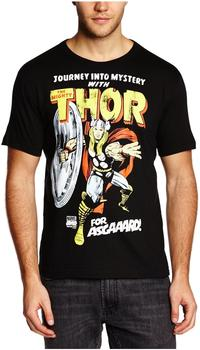 LOGOSHIRT T-Shirt Thor - Marvel - For Asgaaard!, schwarz, Größe L
