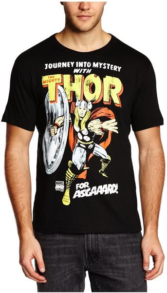 LOGOSHIRT T-Shirt Thor - Marvel - For Asgaaard!, schwarz, Größe XXL