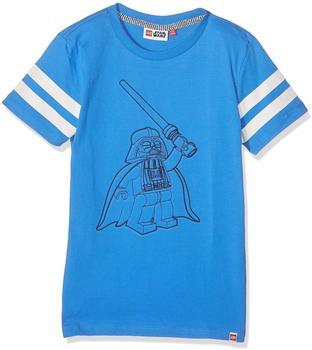 """Lego T-Shirt Teo """"Vader"""" kurzarm Shirt gestickt blau 134"""