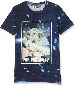"Lego T-Shirt Teo ""Yoda"" kurzarm Shirt blau 140"