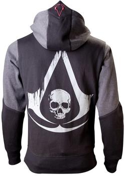 Bioworld Assassins Creed 4 Hoodie XS Black Grey Character