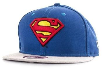 New Era Superman Jersey Team Snap Snapback Cap Blue Grey S M 9fifty Basecap