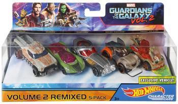 Mattel Hot Wheels Marvel Character Car Guardians of Galaxy 5er-Pack,