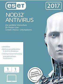 ESET NOD32 Antivirus 2017 (Win/Mac) (1 Gerät) (1 Jahr) (ESD)