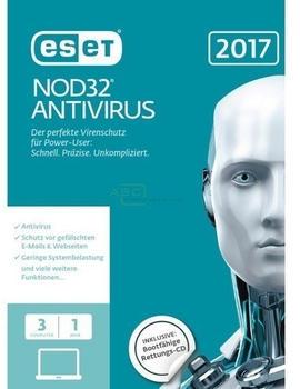 ESET NOD32 Antivirus 2017 (Win/Mac) (3 Geräte) (1 Jahr) (FFP)