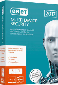 ESET Multi Device Security 2017 (DE) (5 Geräte) (1 Jahr) (FFP)