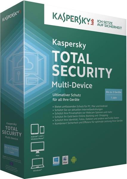Kaspersky Total Security Multi-Device (3 Geräte) (1 Jahr) (DE)