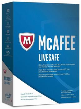 McAfee Livesafe 2017 PKC DE Win Mac Android iOS