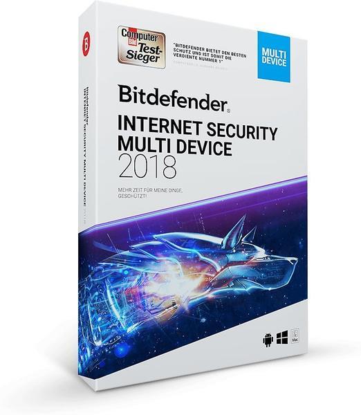 Bitdefender Internet Security Multi Device 2018 (5 User) (2 Jahre)