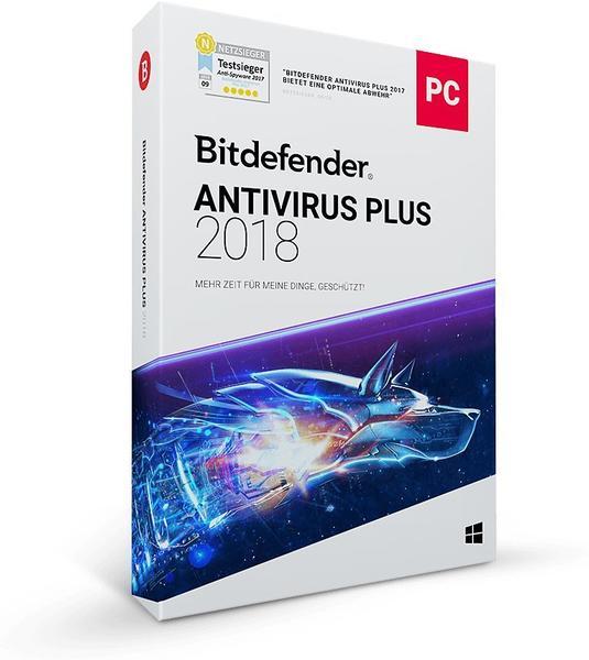 Bitdefender Antivirus Plus 2018 (1 Gerät) (1 Jahr)