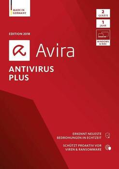 Avira AntiVirus Plus 2018 (2 Geräte) (1 Jahr) (DE) (Box)