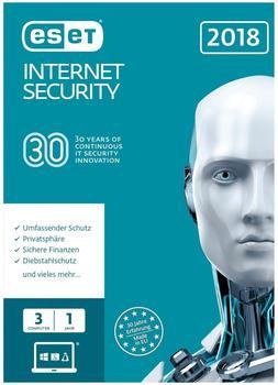 ESET Internet Security 2018 (3 Geräte) (1 Jahr) (FFP)