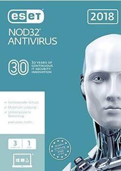 ESET NOD32 Antivirus 2018 (3 Geräte) (1 Jahr) (FFP)