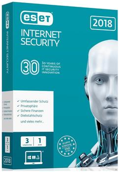 ESET Internet Security 2018 (3 Geräte) (1 Jahr) (Box)