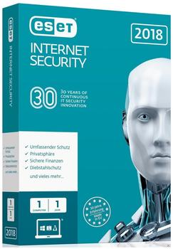 ESET Internet Security 2018 (1 Gerät) (1 Jahr) (Box)