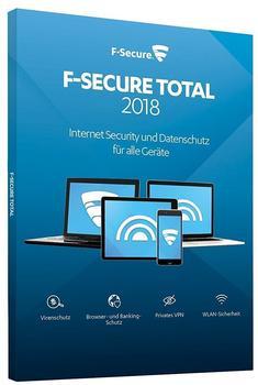 F-Secure Total Security und VPN 2018 5 Geräte ESD DE Win