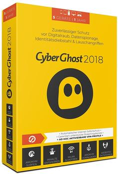S.A.D. CyberGhost 2018 (5 Geräte)