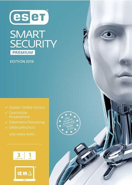 Eset Smart Security Premium 2019 Sicherheit-Software 1 Jahr Frustfreie Verpackung