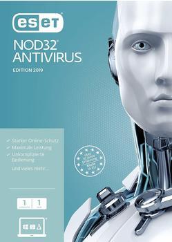 Eset NOD32 Antivirus 2019 1 Jahr Frustfreie Verpackung
