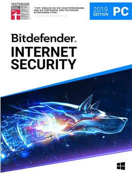 Bitdefender Internet Security 2019 10 PC 1 Jahr ) für Windows)
