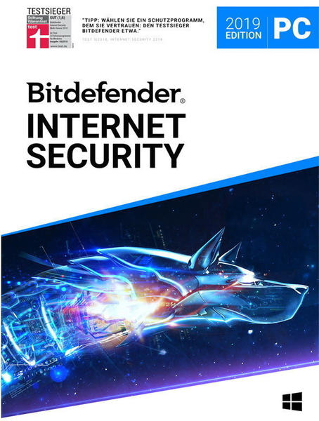 Bitdefender Internet Security 2019 (5 Geräte) (3 Jahre)