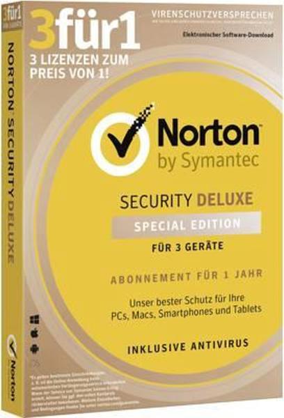 NortonLifeLock Norton Security Deluxe 3 für 1 (3 Geräte) (1 Jahr)