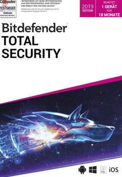 Bitdefender Total Security 2019 (1 Gerät) (1,5 Jahr)