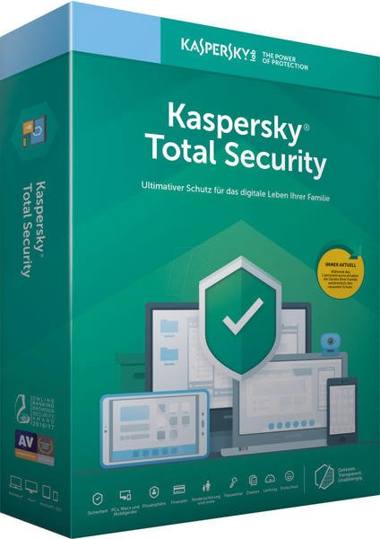 Kaspersky Lab Kaspersky 2019 Total Security, Vollversion, Deutsch, Windows/Mac/Android/iOS, Download-Software