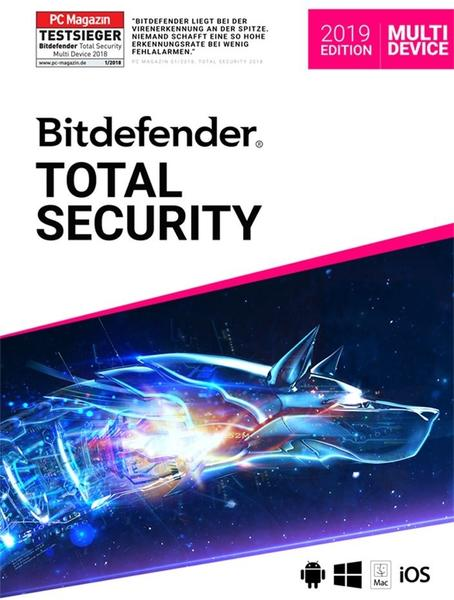 Bitdefender Total Security Multi Device Vollversion ESD 5 Geräte 2 Jahre ( Download ) (2019)