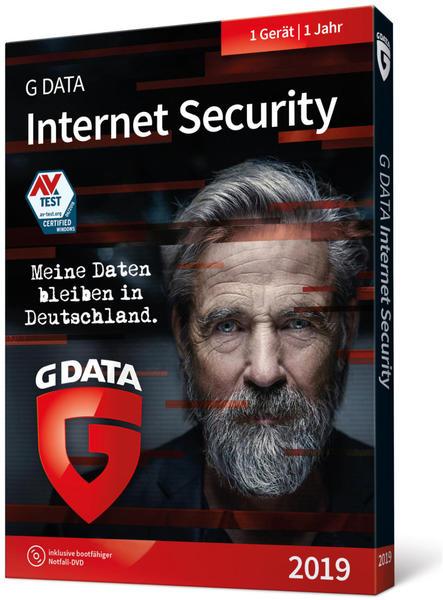G Data Internet Security 2019 - 1 Jahr - 1 PC - DVD - Win Deutsch (C1902BOX12001GE)
