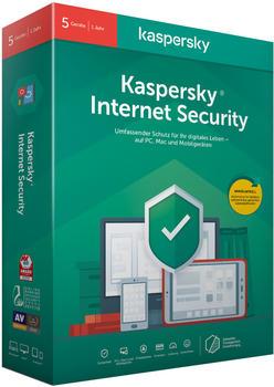 Kaspersky Internet Security 2020 (5 Geräte) (1 Jahr) (Box)