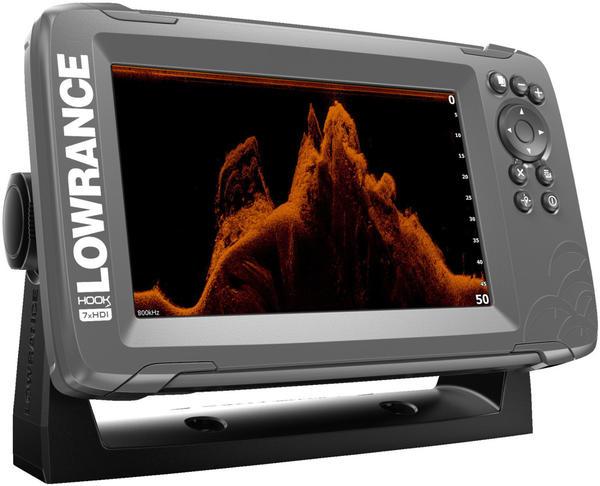 Lowrance Hook² 7x mit SplitShot-Schwinger und GPS-Plotter