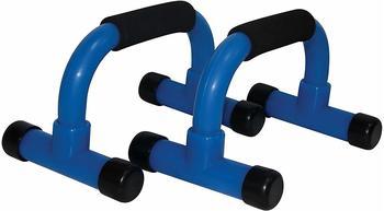 Tunturi Liegestützgriffe Metall schwarz/blau