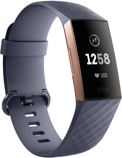 Fitbit Charge 3 blue grey/rose-gold aluminium