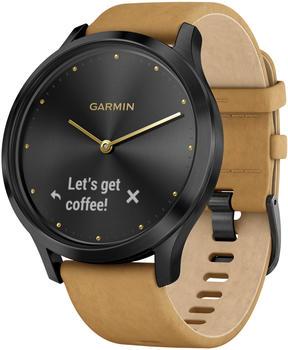 Garmin vivomove HR Premium onyx black/tan