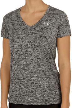 Under Armour Damen T-Shirt mit V-Ausschnitt UA Twist Tech black