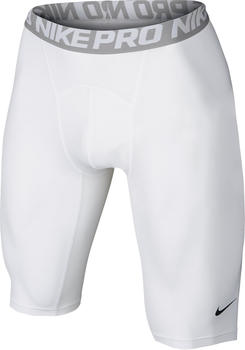 Nike Pro Cool Shorts 23 cm white / matte silver / black