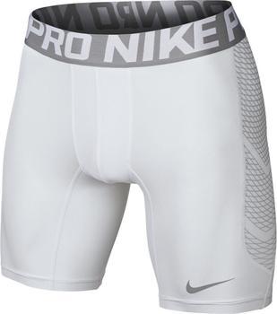 Nike Pro Cool Hypercool 6 Shorts white / matte silver