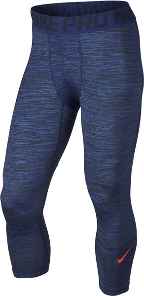 Nike Pro Hypercool Three Quarter Space dye obsidian / deep royal blue / bright crimson