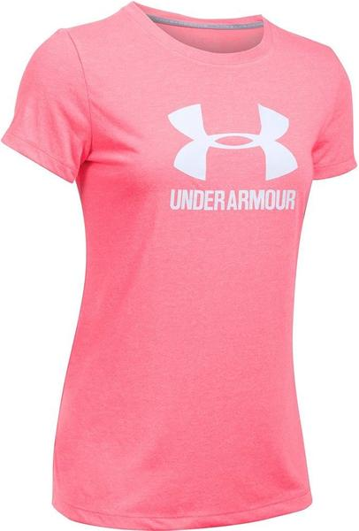 Under Armour Damen-T-Shirt UA Threadborne mit Logo pink shock