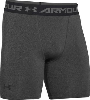 Under Armour Men's HeatGear Compression Shorts carbon heather