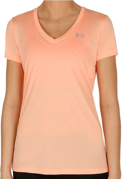 Under Armour Damen T-Shirt mit V-Ausschnitt UA Twist Tech playful peach