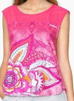 Desigual T-Shirt Sleeveless Paisley rosa (71T2SC7)