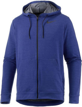 Nike Dri-Fit Fleece Full-Zip Deep Royal Blue/Schwarz