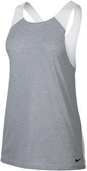 Nike Damen Tank Top breathe Tank loose (862774-012) wolf grey/htr/white/black