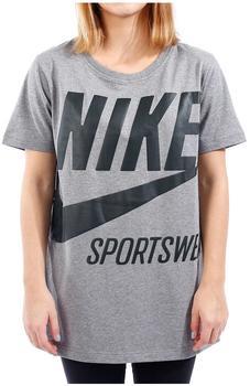 Nike Damen T-shirt tee (878111-091)carbon heather/outdoor green