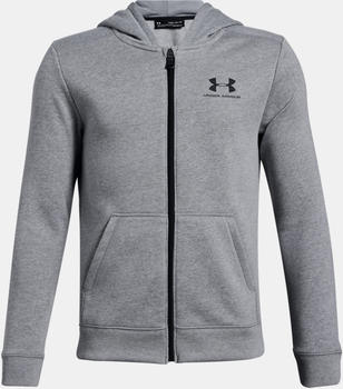 Under Armour UA Cotton Fleece Hoodie Kids (1320133) grey