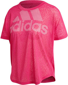 Adidas Magic Logo T-Shirt Women Real Magenta